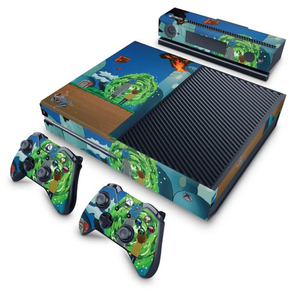 Xbox One Fat Skin - Rick And Morty Mario