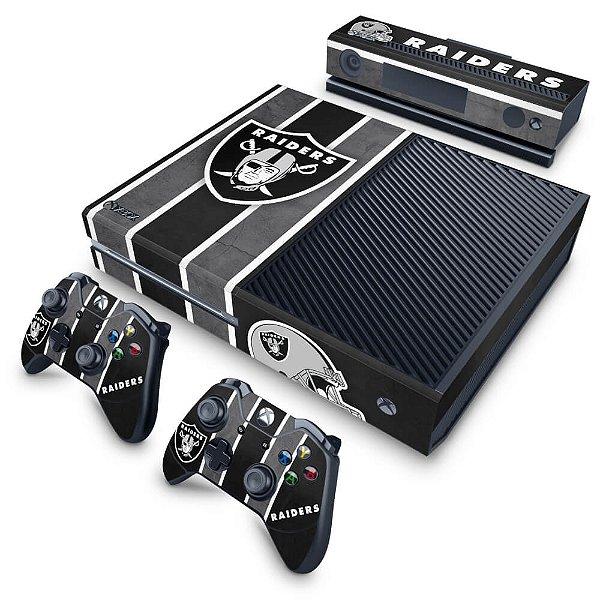 Xbox One Fat Skin - Oakland Raiders NFL