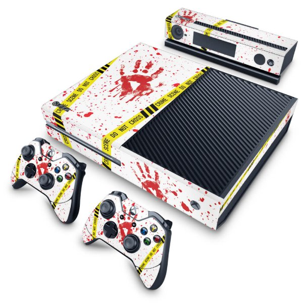 Xbox One Fat Skin - Cena de Crime Scene