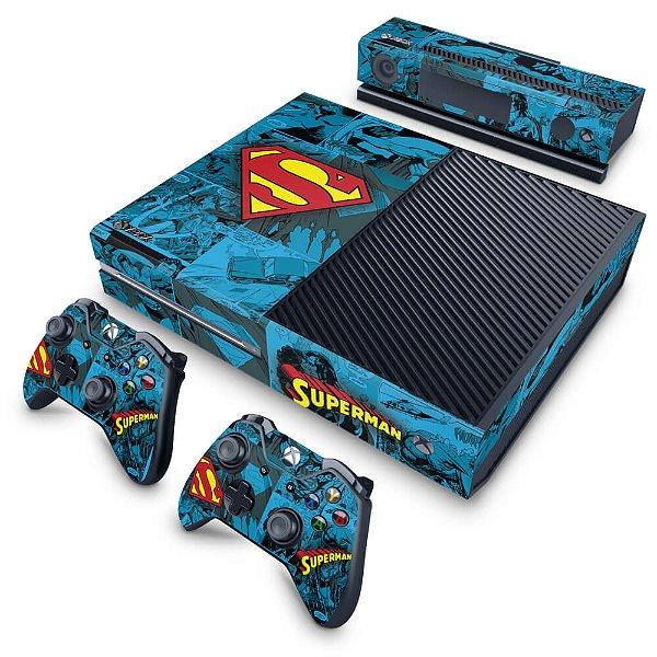 Xbox One Fat Skin - Super Homem Superman Comics