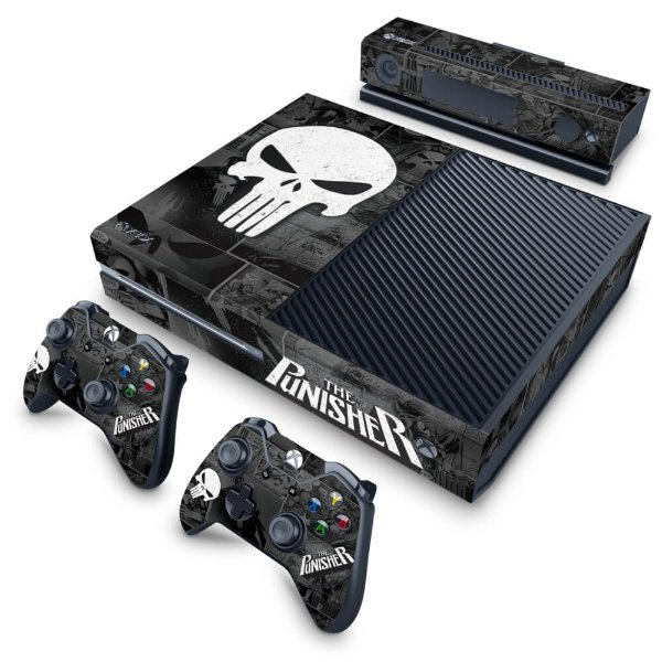 Xbox One Fat Skin - The Punisher Justiceiro Comics