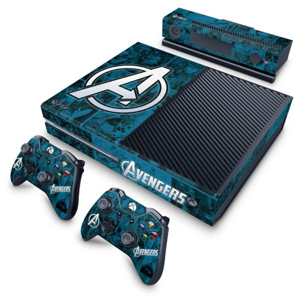 Xbox One Fat Skin - Avengers Vingadores Comics