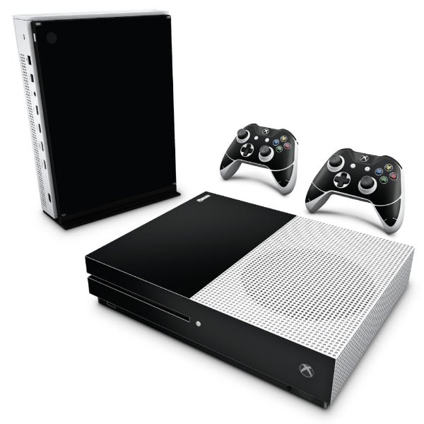 Xbox One Slim Skin - Preto Black Piano