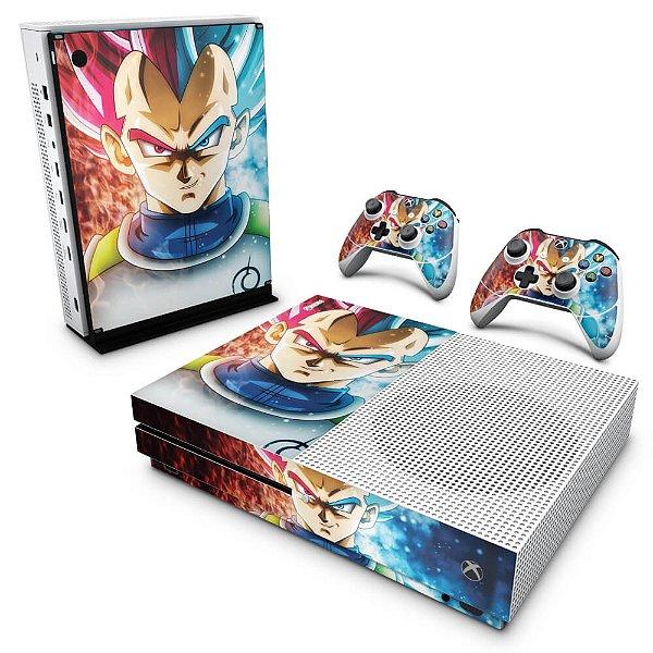 Xbox One Slim Skin - Dragon Ball Super Vegeta SSJ GOD