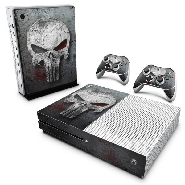 Xbox One Slim Skin - The Punisher Justiceiro #b
