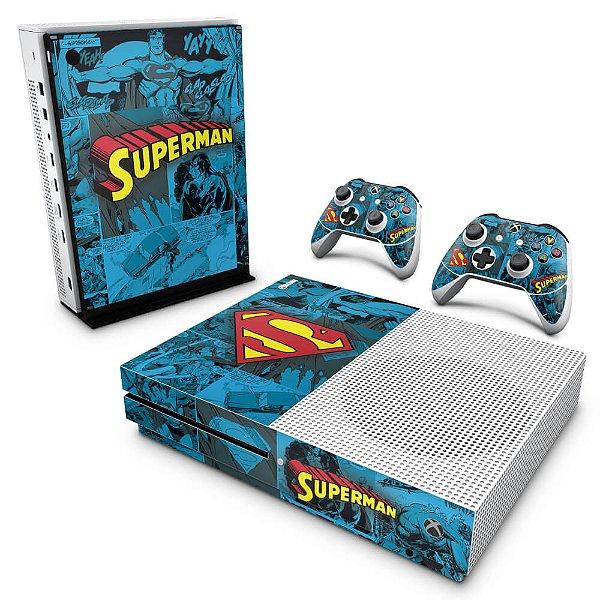 Xbox One Slim Skin - Super Homem Superman Comics