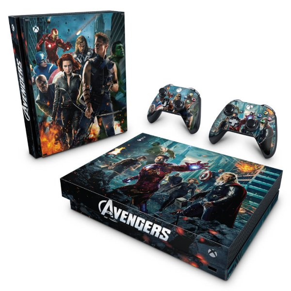 Xbox One X Skin - The Avengers - Os Vingadores