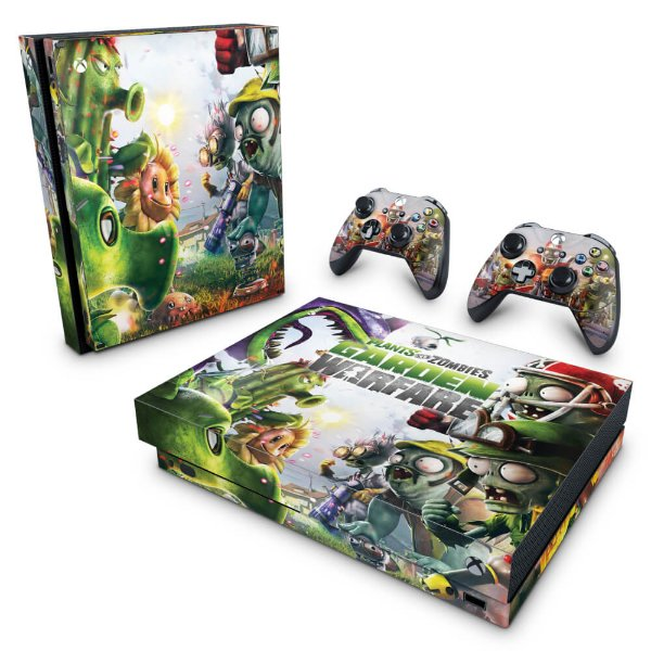 Xbox One X Skin - Plants Vs Zombies Garden Warfare