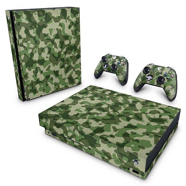 Xbox One X Skin - Camuflagem Verde