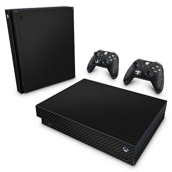 Xbox One X Skin - Fibra de Carbono Preto