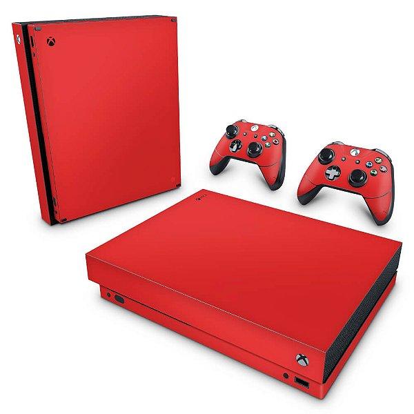 Xbox One X Skin - Vermelho