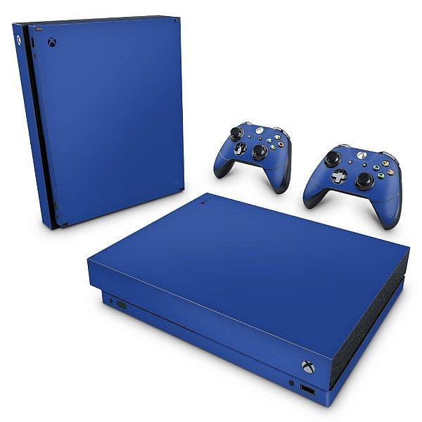 Xbox One X Skin - Azul Escuro