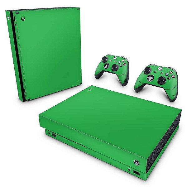 Xbox One X Skin - Verde Grama