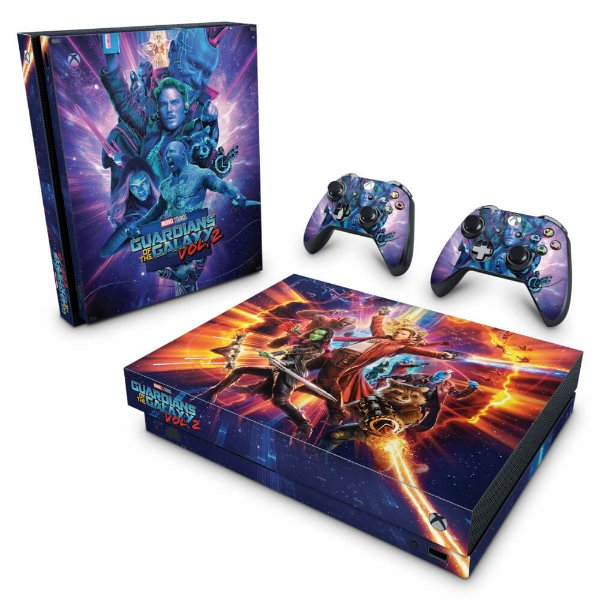 Xbox One X Skin - Guardiões da Galáxia Vol 2