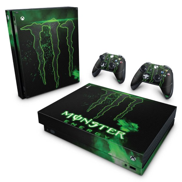 Xbox One X Skin - Monster Energy Drink