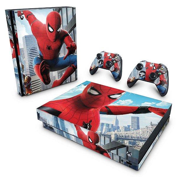 Xbox One X Skin - Homem Aranha - Spiderman Homecoming