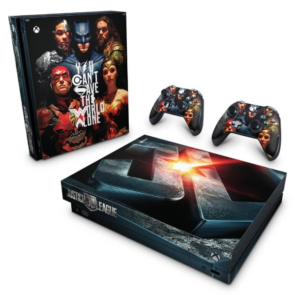 Xbox One X Skin - Liga da Justiça