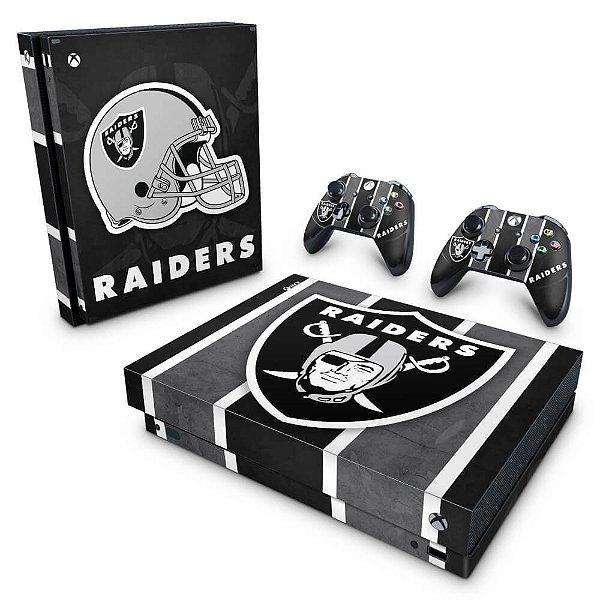 Xbox One X Skin - Oakland Raiders NFL