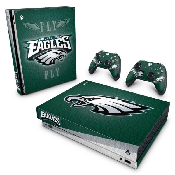 Xbox One X Skin - Philadelphia Eagles NFL