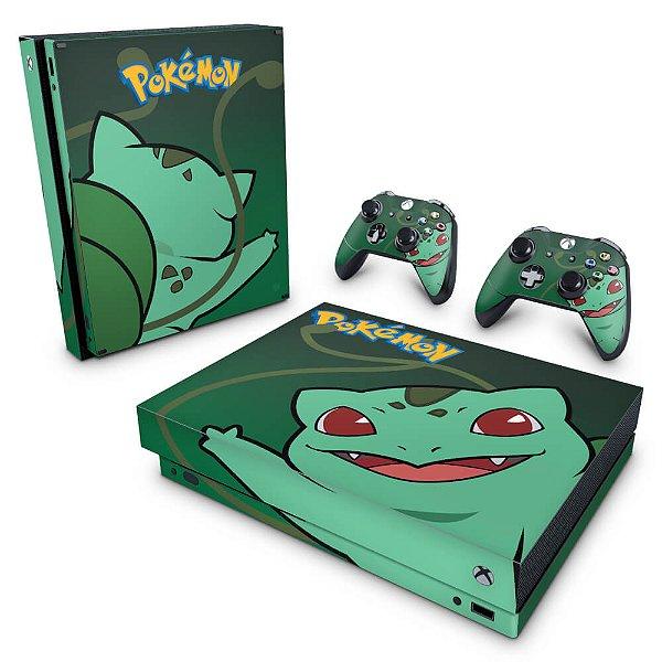 Xbox One X Skin - Pokemon Bulbasaur