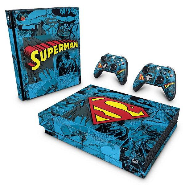 Xbox One X Skin - Super Homem Superman Comics