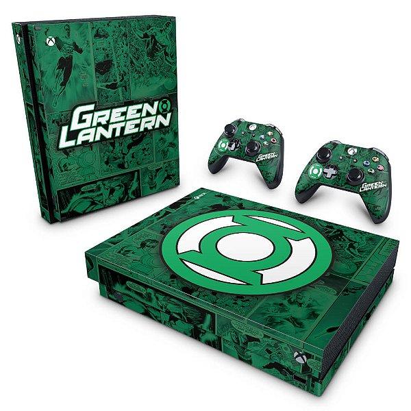 Xbox One X Skin - Lanterna Verde Comics