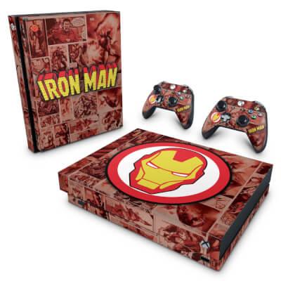 Xbox One X Skin - Homem de Ferro Comics