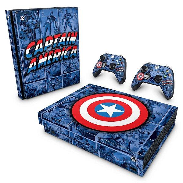 Xbox One X Skin - Capitão América Comics