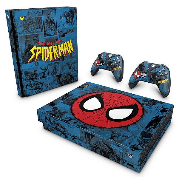 Xbox One X Skin - Homem-Aranha Spider-Man Comics