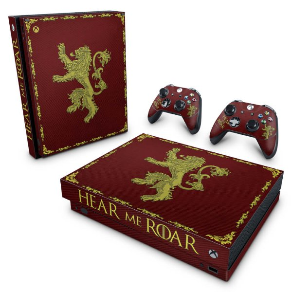 Xbox One X Skin - Game Of Thrones Lannister
