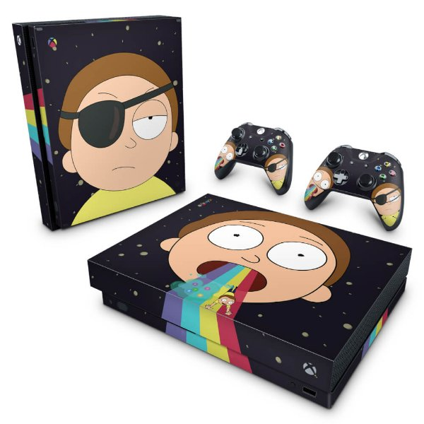 Xbox One X Skin - Morty Rick and Morty