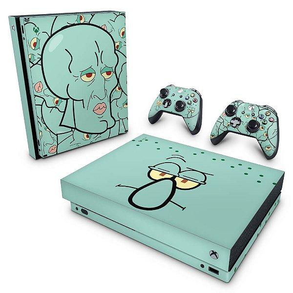 Xbox One X Skin - Lula Molusco Bob Esponja