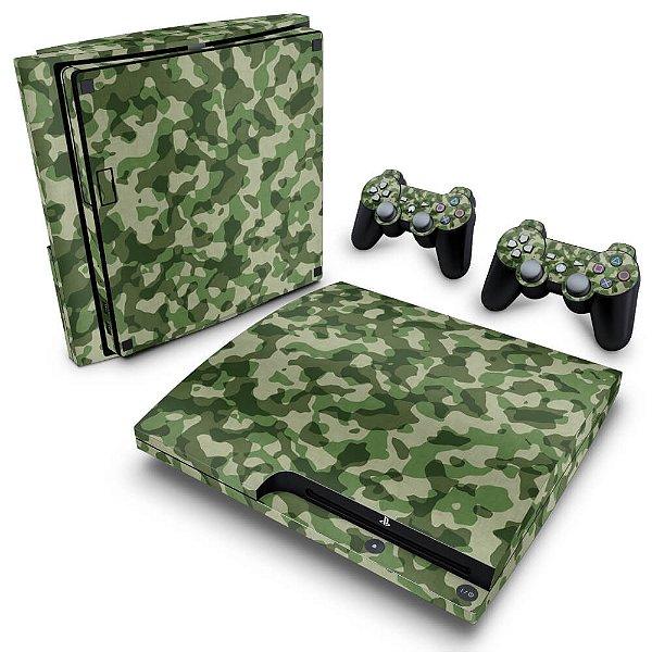 PS3 Slim Skin - Camuflado Verde
