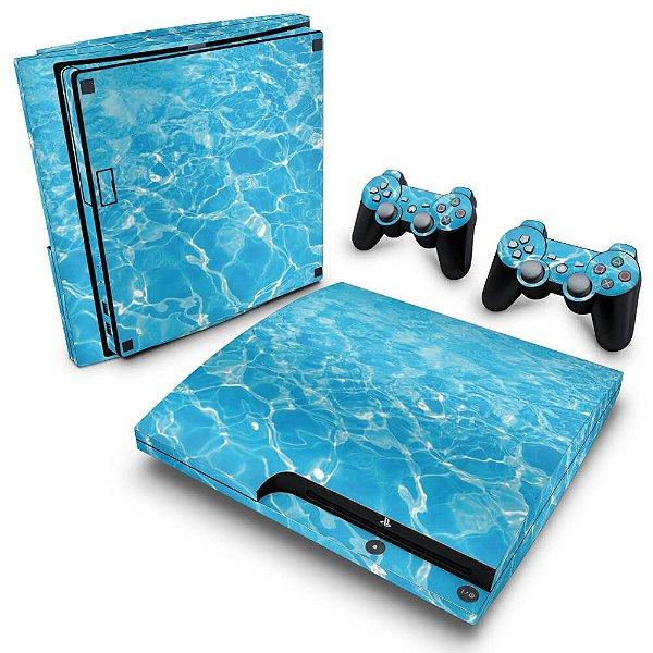 PS3 Slim Skin - Aquático Água