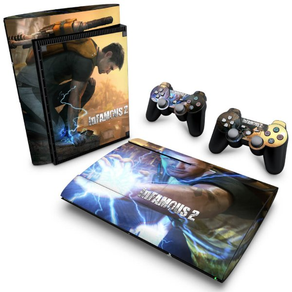 PS3 Super Slim Skin - Infamous 2