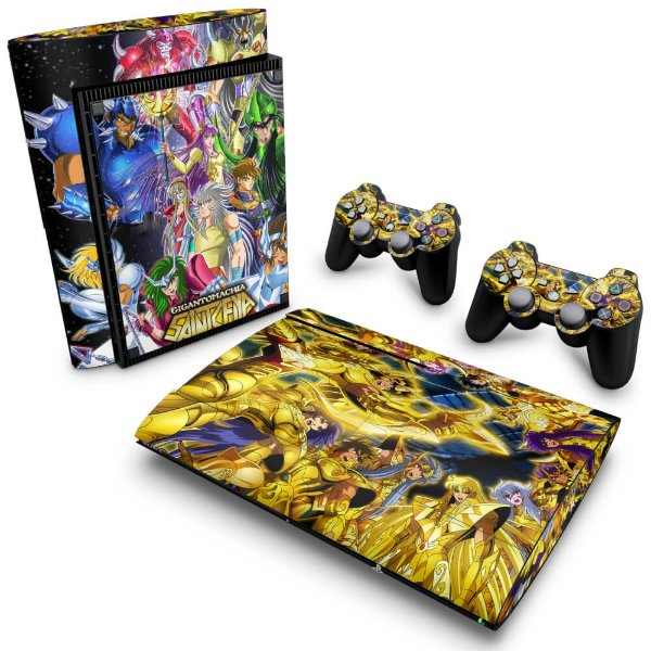 PS3 Super Slim Skin - Cavaleiros do Zodiaco