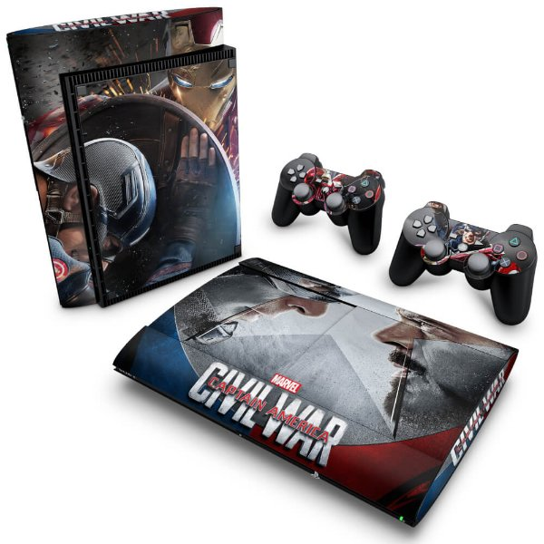 PS3 Super Slim Skin - Capitão America - Guerra Civil