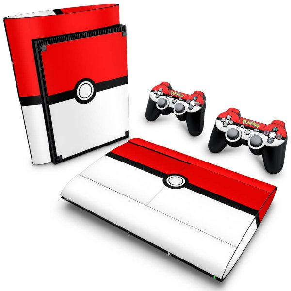 PS3 Super Slim Skin - Pokemon Pokebola