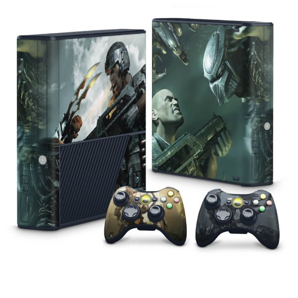 Xbox 360 Super Slim Skin - Aliens vs Predators