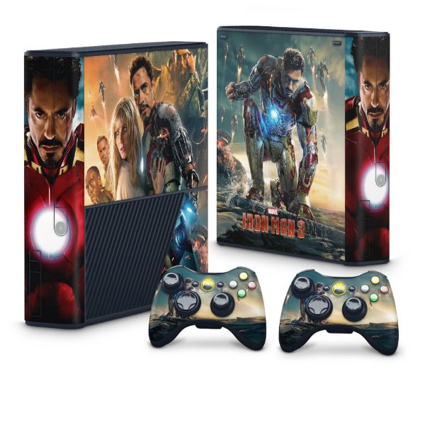 Xbox 360 Super Slim Skin - Iron Man - Homem de Ferro #A