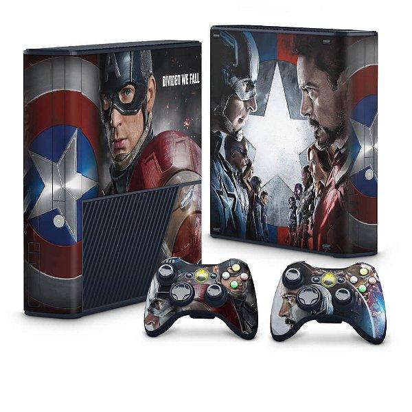 Xbox 360 Super Slim Skin - Capitão America Guerra Civil
