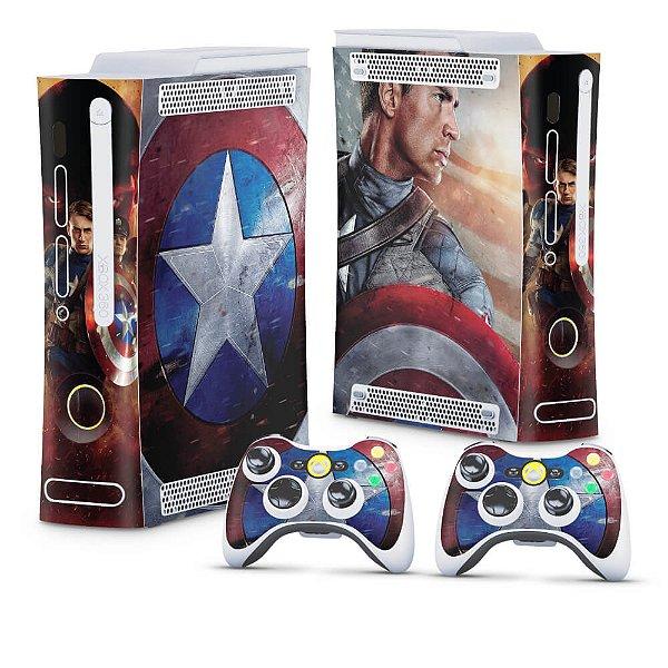 Xbox 360 Fat Skin - Capitão América