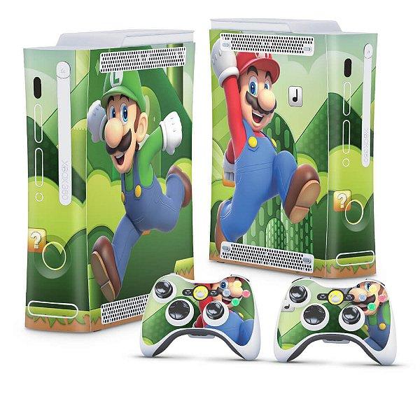 Xbox 360 Fat Skin - Mario & Luigi