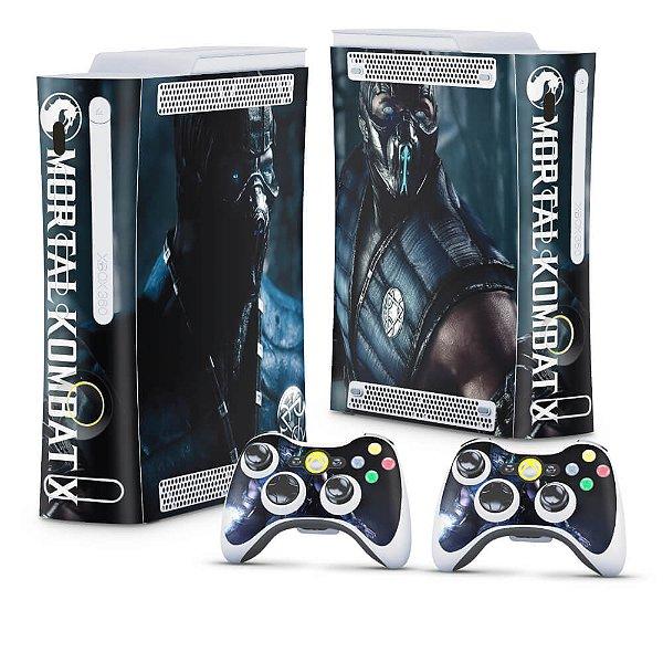 Xbox 360 Fat Skin - Mortal Kombat X Subzero
