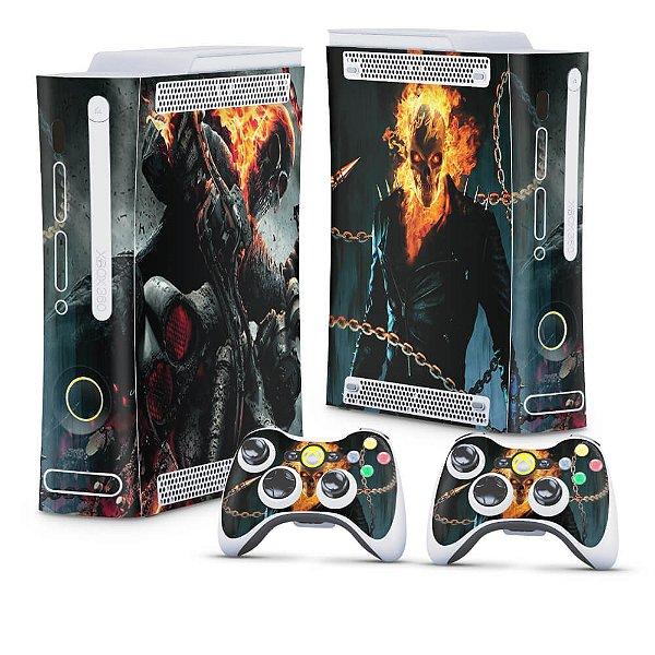 Xbox 360 Fat Skin - Ghost Rider - Motoqueiro Fantasma #B