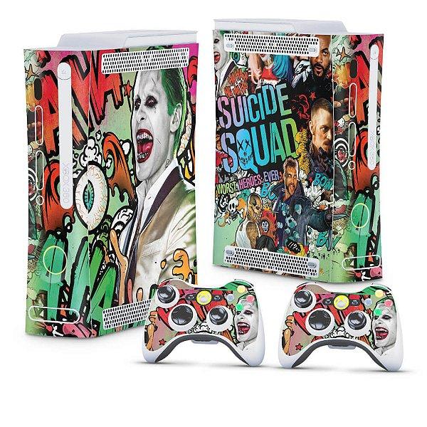Xbox 360 Fat Skin - Esquadrão Suicida #B