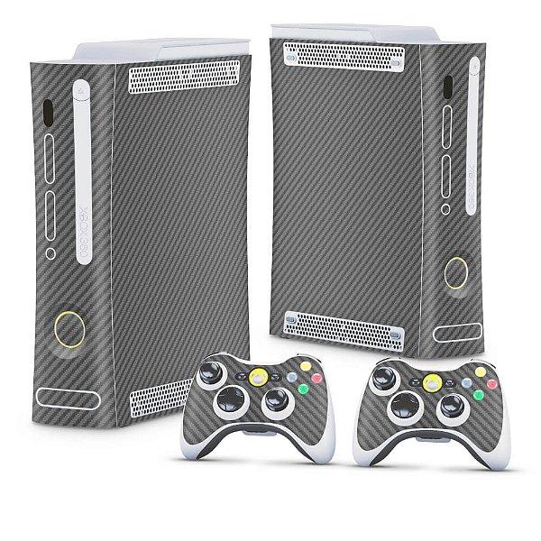 Xbox 360 Fat Skin - Fibra de Carbono Cinza Grafite