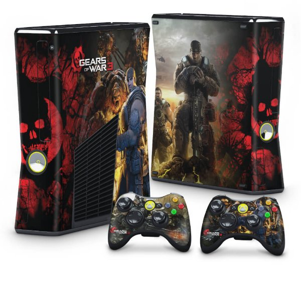 Xbox 360 Slim Skin - Gears of War 3