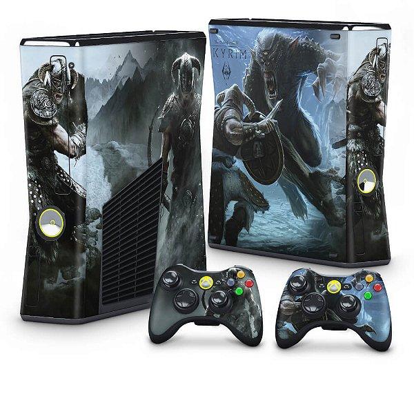 Xbox 360 Slim Skin - Skyrim