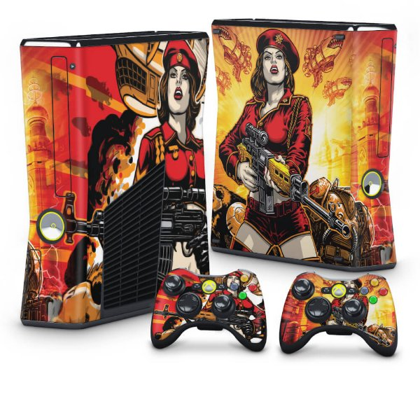 Xbox 360 Slim Skin - Command and Conquer Red Alert